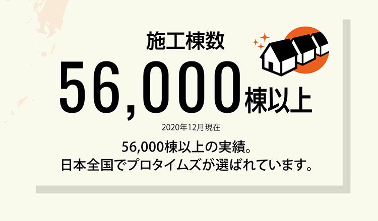 施工棟数46,000棟以上