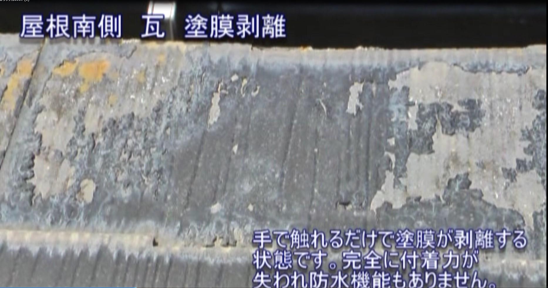 ひび割れ、塗膜剥離など屋根の劣化状況を詳しく説明