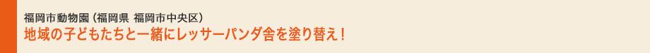 福岡市動物園(福岡県福岡市中央区)|地域のこどもたちと一緒にレッサーパンダ舍を塗り替え!